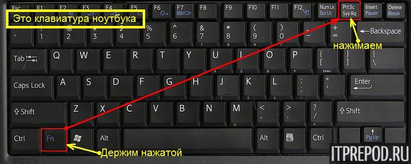 как сделать скриншот экрана на ноутбуке windows