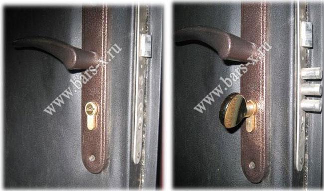 заменить замок входной металлической двери